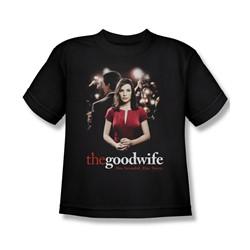 The Good Wife - Bad Press Big Boys T-Shirt In Black
