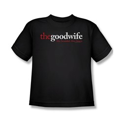 The Good Wife - The Good Wife Logo Big Boys T-Shirt In Black
