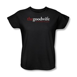 The Good Wife - The Good Wife Logo Womens T-Shirt In Black