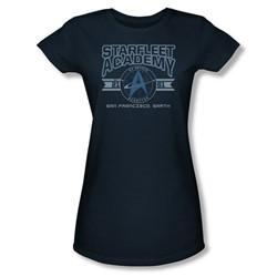 Star Trek - Starfleet Academy, Earth Juniors T-Shirt In Navy
