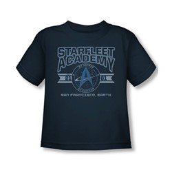 Star Trek - Starfleet Academy, Earth Toddler T-Shirt In Navy
