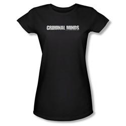 Criminal Minds - Criminal Minds Logo Juniors T-Shirt In Black