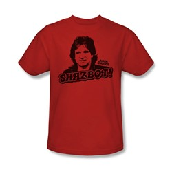 Mork & Mindy - Shazbot Adult T-Shirt In Red