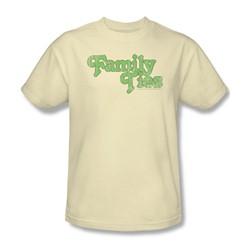 Family Ties - Family Ties Logo Adult T-Shirt In Cream
