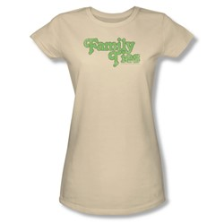 Family Ties - Family Ties Logo Juniors T-Shirt In Cream