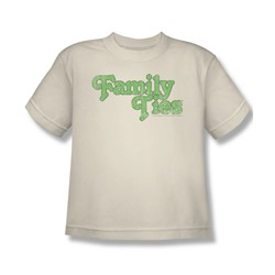 Family Ties - Family Ties Logo Big Boys T-Shirt In Cream