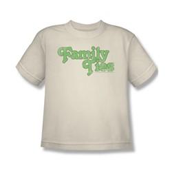 Family Ties - Family Ties Logo Big Boys T-Shirt In Cream