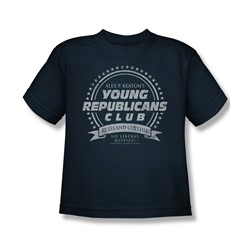 Family Ties - Young Republicans Club Big Boys T-Shirt In Navy