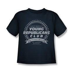 Family Ties - Young Republicans Club Juvee T-Shirt In Navy