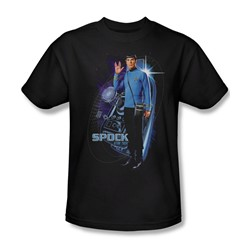 Star Trek: The Original Series - Galactic Spock Adult T-Shirt In Black