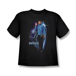 Star Trek: The Original Series - Galactic Spock Big Boys T-Shirt In Black