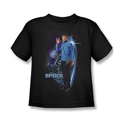Star Trek: The Original Series - Galactic Spock Juvee T-Shirt In Black
