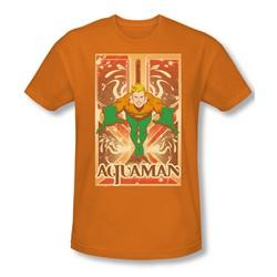 Aquaman - Aquaman Slim Fit Adult T-Shirt In Orange