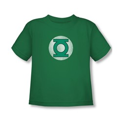 Green Lantern - Gl Logo Distressed Toddler T-Shirt In Kelly Green