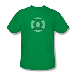 Green Lantern - Gl Little Logos Adult T-Shirt In Kelly Green