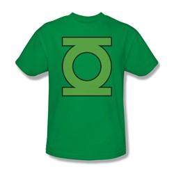 Green Lantern - Lantern Symbol Adult T-Shirt In Kelly Green