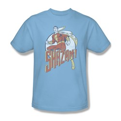 Shazam - Steppin' Out Adult T-Shirt In Light Blue