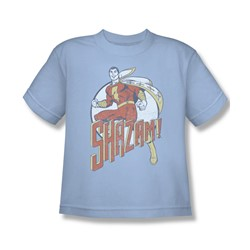 Shazam - Steppin' Out Big Boys T-Shirt In Light Blue