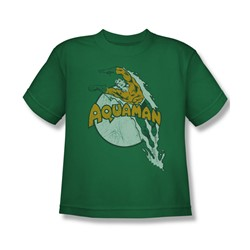 Aquaman - Splash Big Boys T-Shirt In Kelly Green