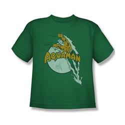 Aquaman - Splash Youth T-Shirt In Kelly Green