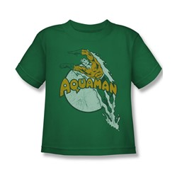 Aquaman - Splash Juvee T-Shirt In Kelly Green