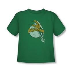 Aquaman - Splash Toddler T-Shirt In Kelly Green