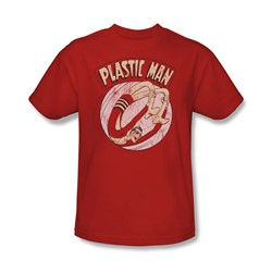 Plastic Man - Bounce Adult T-Shirt In Red