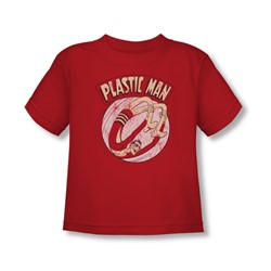 Plastic Man - Bounce Toddler T-Shirt In Red
