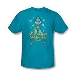 Wonder Woman - A Wonder Adult T-Shirt In Turquoise