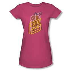 Dc Originals - Lois Lane Juniors T-Shirt In Hot Pink