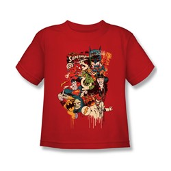 Dc Originals - Dripping Characters Juvee T-Shirt In Red