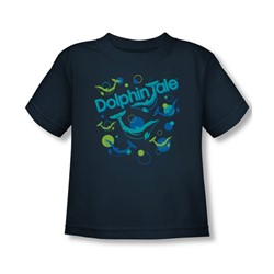 Dolphin Tale - Bubbles Toddler T-Shirt In Navy