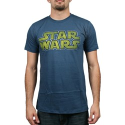 Star Wars - Star Logo Mens Lightweight T-Shirt in Light Navy