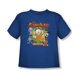 Garfield - The Garfield Show Toddler T-Shirt In Royal