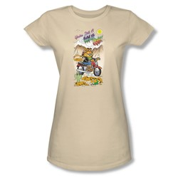 Garfield - Wild One Juniors T-Shirt In Cream