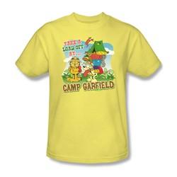 Garfield - Camp Garfield Adult T-Shirt In Banana