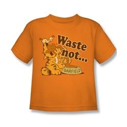 Garfield - Waste Not Juvee T-Shirt In Orange
