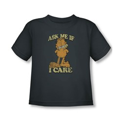 Garfield - Ask Me Toddler T-Shirt In Charcoal