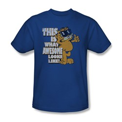 Garfield - Awesome Adult T-Shirt In Royal