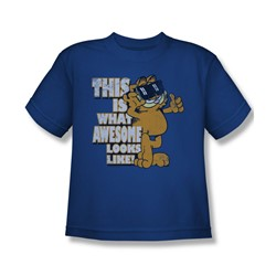 Garfield - Awesome Big Boys T-Shirt In Royal