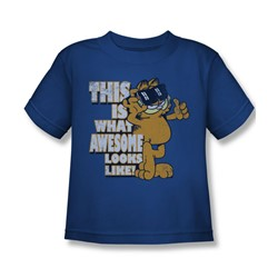 Garfield - Awesome Juvee T-Shirt In Royal