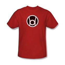 Green Lantern - Red Lantern Symbol Adult T-Shirt In Red