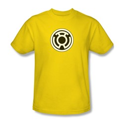 Green Lantern - Sinestro Corps Logo Adult T-Shirt In Yellow