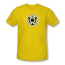 Green Lantern - Sinestro Corps Logo Slim Fit Adult T-Shirt In Yellow