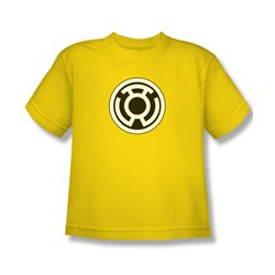 Green Lantern - Sinestro Corps Logo Big Boys T-Shirt In Yellow