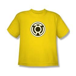 Green Lantern - Sinestro Corps Logo Big Boys T-Shirt In Yellow