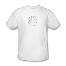 Green Lantern - White Lantern Logo Adult T-Shirt In White