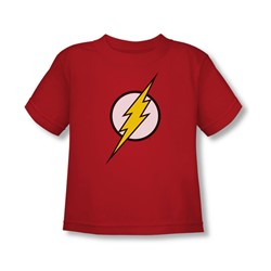 Justice League - Flash Logo Toddler T-Shirt In Red