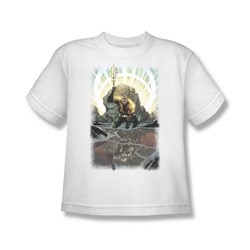 Aquaman - Brightest Day Aquaman Youth T-Shirt In White