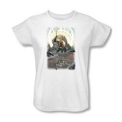 Aquaman - Brightest Day Aquaman Womens T-Shirt In White